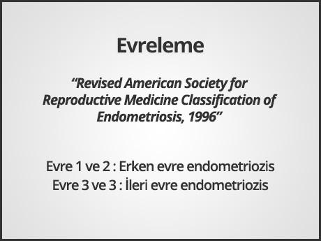 Endometriozis - Evreleme